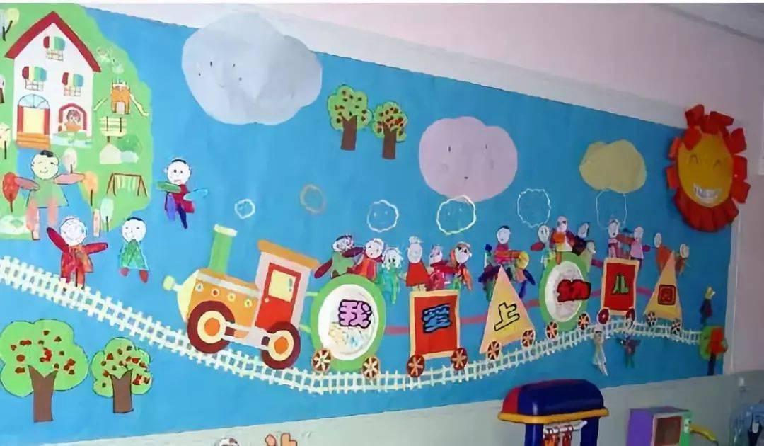 创意主题墙我爱幼儿园主题墙想要增加孩子对新环境的熟悉感和亲切度