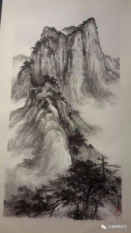 【纹身素材】长城,山水 纹身背景素材 多用图片