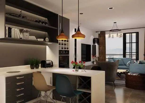 家装中酒柜吧台尺寸高度多少合适,酒柜吧台一体效果图