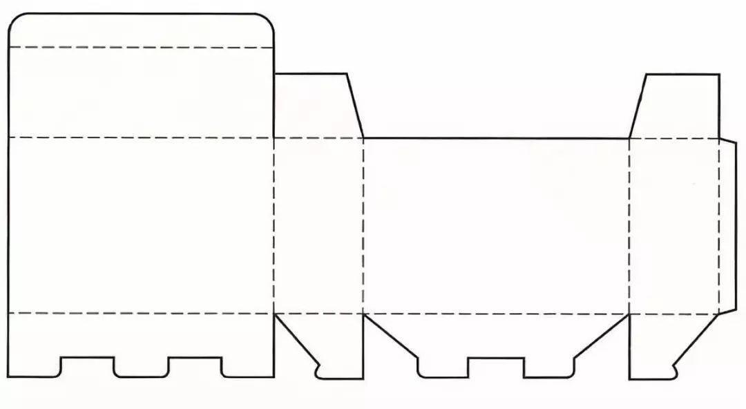 别扣式结构展开图盘式包装结构设计 盘式包装盒结构是由纸板四周进