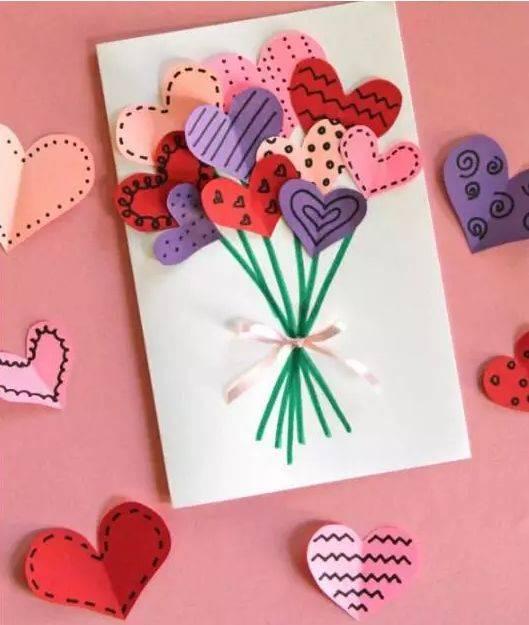 几十种幼儿园母亲节手工制作教程大全折花折纸贺卡