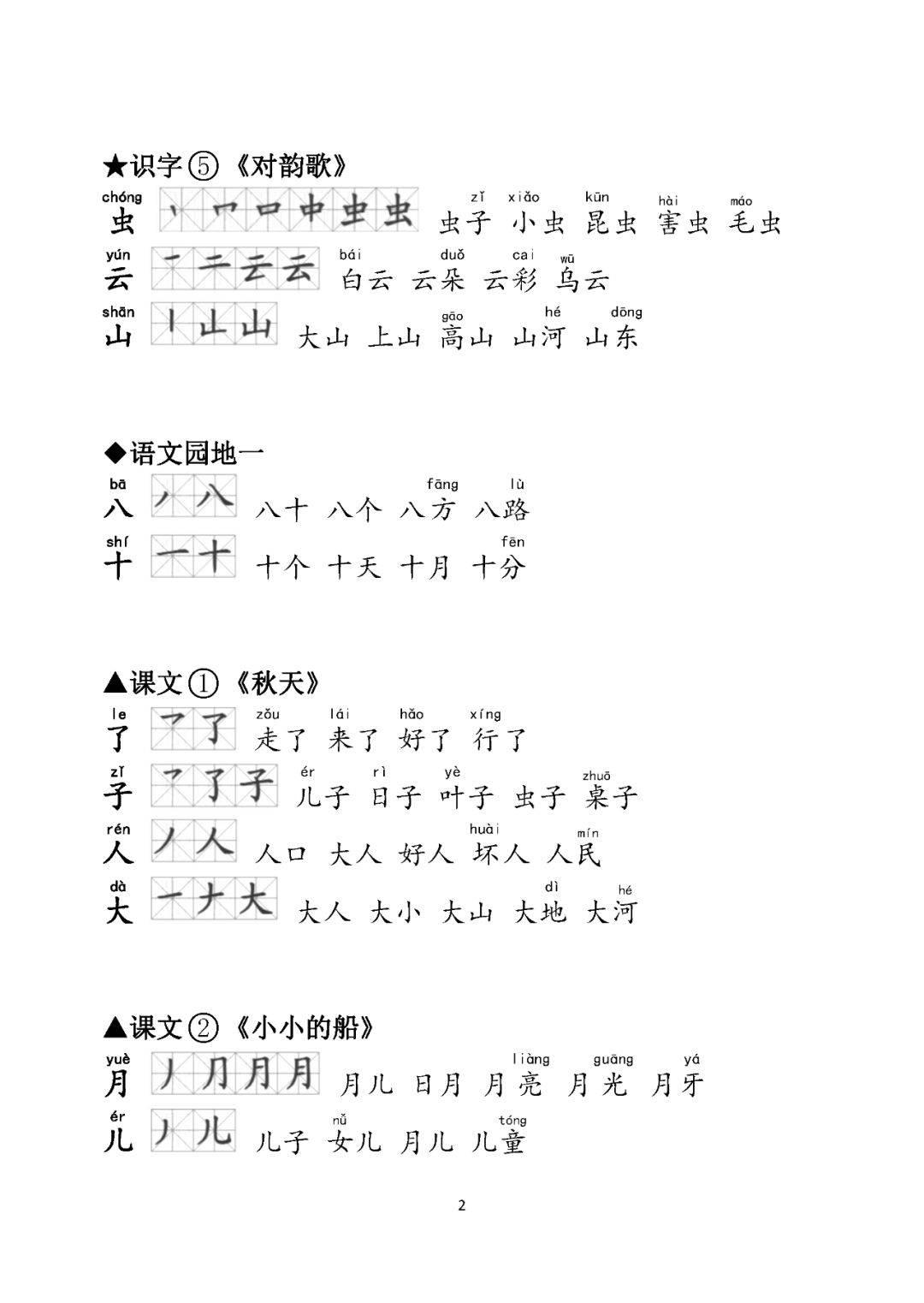 人生职业规划范文_部编版一年级语文上册生字笔顺、组词(含拼音)、背诵课文汇总!